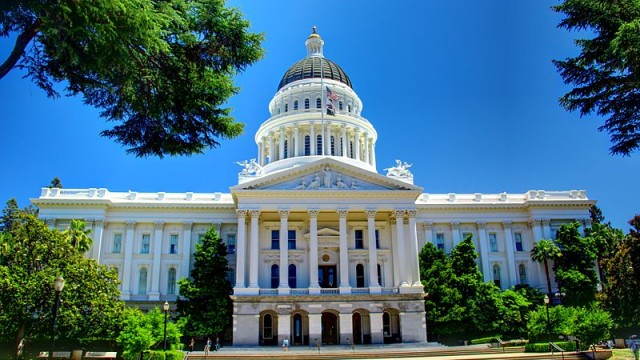 The California State Capitol in Sacramento. Photo via Wikimedia Commons