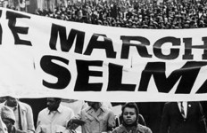"""A portion of a photograph from """"Selma, 1965: Bruce Davidson and the Photography of Civil Rights"""" at the University of San Diego."""