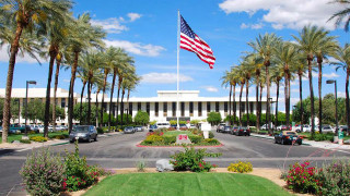 Entrance to the Eisenhower Medical Center in Rancho Mirage. Photo courtesy of the center