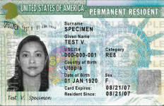 A sample Green Card. Courtesy Department of Homeland Security
