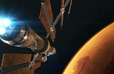 """An image from the IMAX movie """"Journey Into Space."""""""