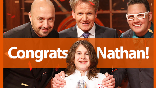 San Diego's own Nathan Odom is the winner of this season's Master Chef Junior. Photo courtesy of Fox