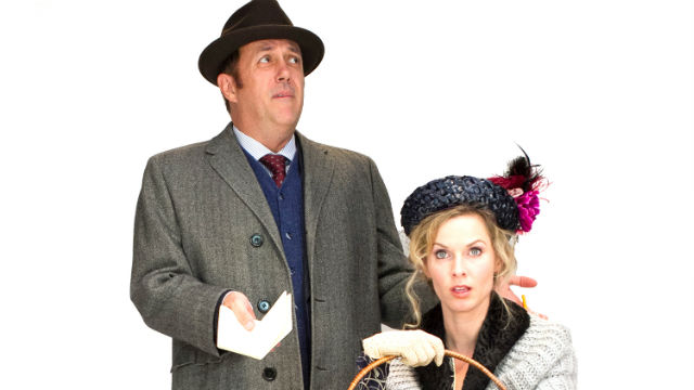 "Sean Murray and Allison Spratt Pearce in ""My Fair Lady"" at Cygnet Theatre."