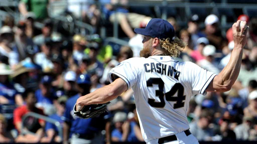 Starter Andrew Cashner pitched the early innings out the game with the Texas Rangers