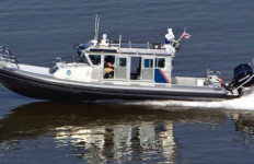 A U.S. Customs and Border Protection SAFE boat in operation. Courtesy CBP