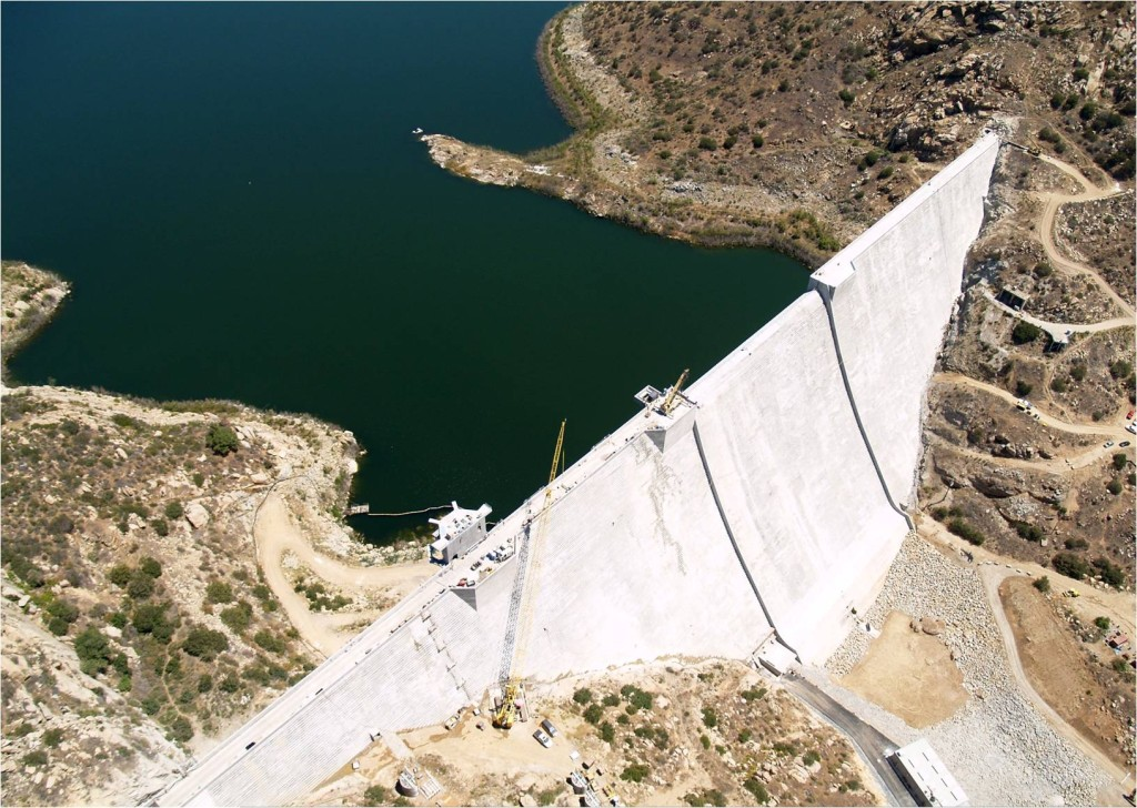San Vicente Dam and Reservoir aerial view. Photo courtesy of the San Diego Water Authority