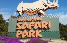 The San Diego Zoo Safari Park welcome sign. Photo courtesy Wikimedia Commons.
