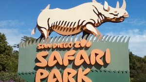 The San Diego Zoo Safari Park welcome sign. Photo courtesy Wikimedia Commons.