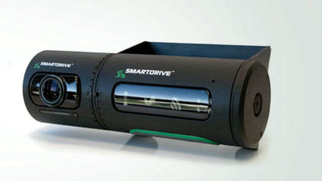 A vehicle camera from San Diego's SmartDrive Systems.