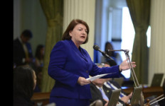 Assembly Speaker Toni Atkins at the Capitol on Thursday. Courtesy Atkins' office