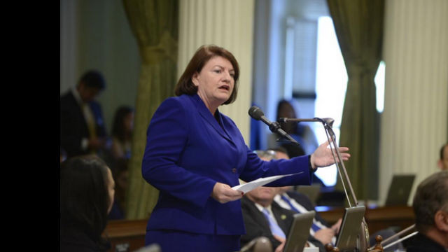 Assembly Speaker Toni Atkins at the Capitol. Courtesy Atkins' office