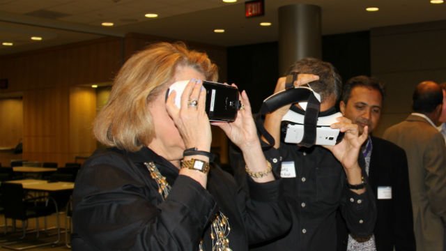 Sampling virtual reality via Qualcomm's Vuforia technology.