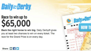 Image from Daily Derby homepage. calottery.com