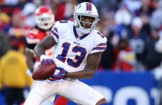 Wide receiver Stevie Johnson, while playing for the Buffalo Bills. Photo courtesy of Bleacher Report.
