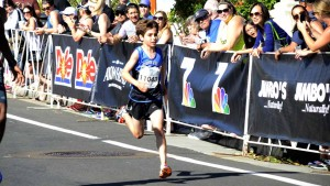 Xander Black of Phoenix ran the 3.1-mile course in a world record for 12-year-olds:  16:47. Chris Stone photo