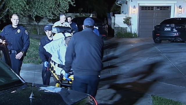 Paramedics at the scene of the stabbing in 4S Ranch. Courtesy OnScene.TV