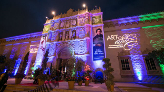 The annual Art Alive show at the San Diego Museum of Art.