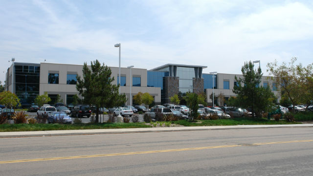 An R&D building with space for lease in Rancho Bernardo. Courtesy Colliers International