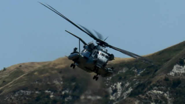 A CH-53E Super Stallion transports Marines during training at Camp Pendleton. Marine Corps photo