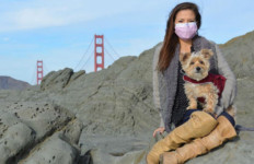 Caleigh Haber of San Francisco relies on breathing equipment and breathing exercises to keep her alive as she waits for a lung transplant. Photo courtesy Donate Life Registry