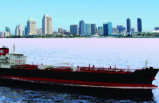 Artist's rendering of an ECO tanker for American Petroleum Tankers. Courtesy NASSCO