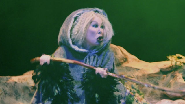 """Leigh Scarritt as the witch in """"Into the Woods"""" by California Youth Conservatory ."""