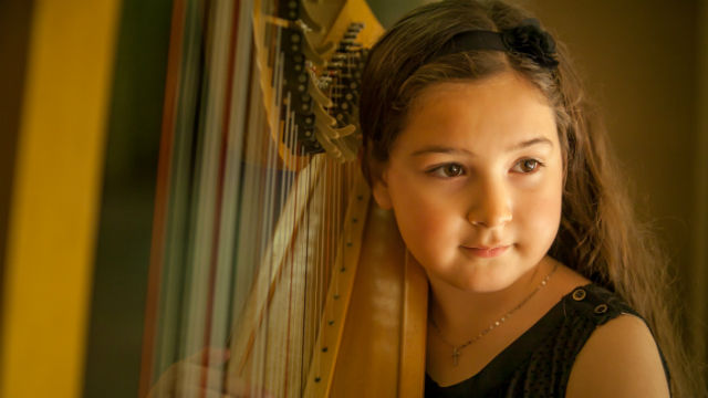 Nine-year-old harpist Isabella McCormick will be performing at the Heart of a Child benefit  concert.