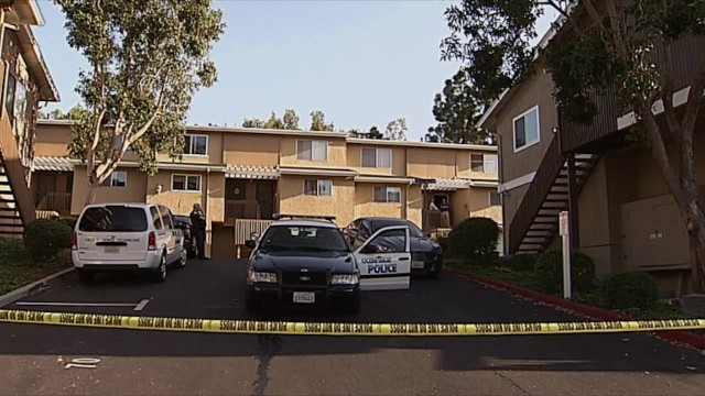 Police investigate the apparent murder-suicide at an apartment complex in Oceanside. Courtesy OnScene.TV