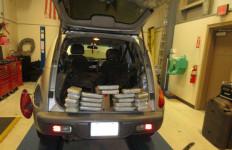 The Border Patrol found 20 packages of methamphetamine inside this 2002 Chrysler PT Cruiser. Courtesy Border Patrol