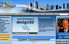 Homepage of City of San Diego website on April 7, 2015. Image from sandiego.gov