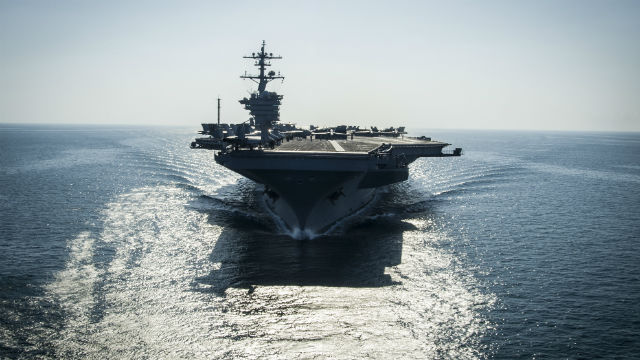 The USS Carl Vinson prepares for flight operations. Navy photo