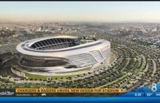 The new stadium design the Chargers and Raiders presented to the NFL this week. Courtesy of CBS 8 News.