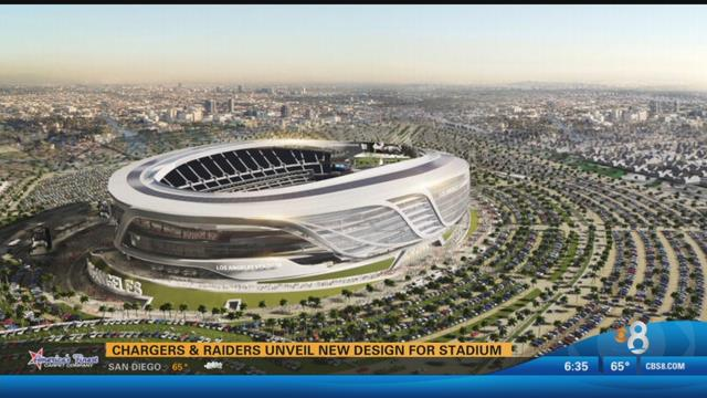 Chargers Raiders Present New Design For Carson Stadium To