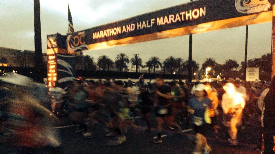 Runners at the start of the 2015 OC Marathon. Courtesy photo