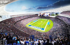 Artist's conception of proposed Chargers stadium in Mission Valley. Image via Twitter