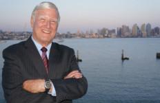 Greg Cox with the San Diego skyline. Campaign photo