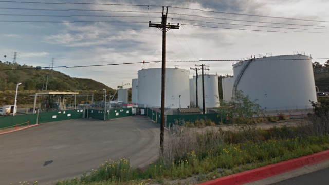 Mission Valley fuel storage tanks. Photo courtesy of Google Maps