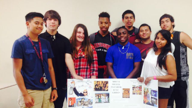 Members of Mount Miguel High School's East County Youth Coalition.