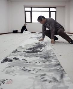 Pan Gongkai at work. Courtesy of the museum
