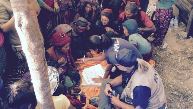Scripps Nurses with villagers in a remote area of Nepal. Photo courtesy Scripps