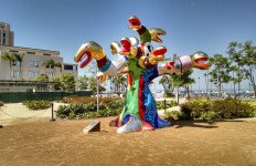 """""""Serpent Tree"""" by Niki de Saint Phalle on loan to the County of San Diego. Photo by Chris Jennewein"""