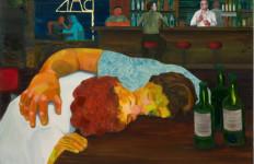 """Sloppy Bar Room Kiss"" by Nicole Eisenman,  2011, oil on canvas. Photo by Robert Wedemeyer"