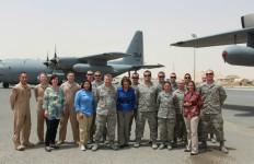 Rep. Susan Davis with troops in Kabul, Afghanistan.