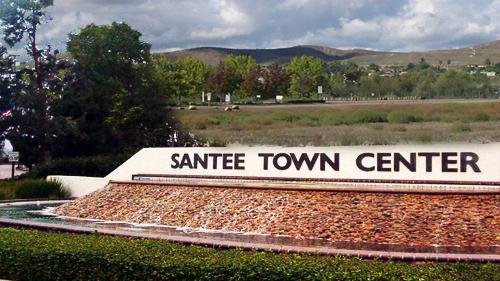 Santee Town Center. Image courtesy City of Santee.