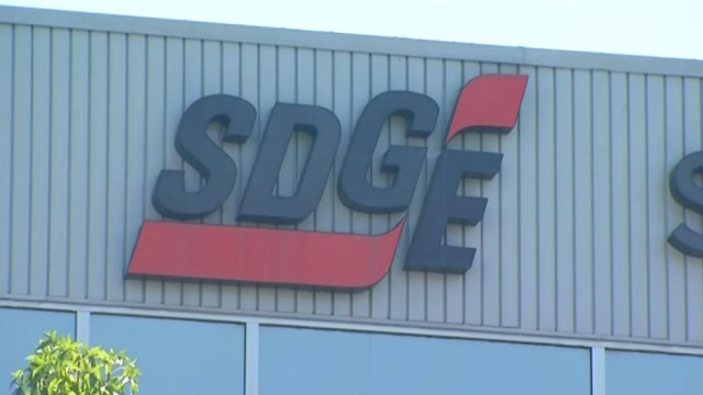 A view of the SDG&E building being shot at in Kearny Mesa. Courtesy of NBC San Diego broadcast.