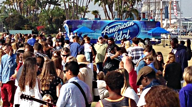 Around 1,500 people auditioned for the last season of American Idol in San Diego. Photo courtesy of Fox