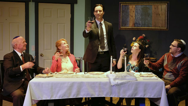 "The Passover seder in ""Beau Jest"" at Scripps Ranch Theatre."