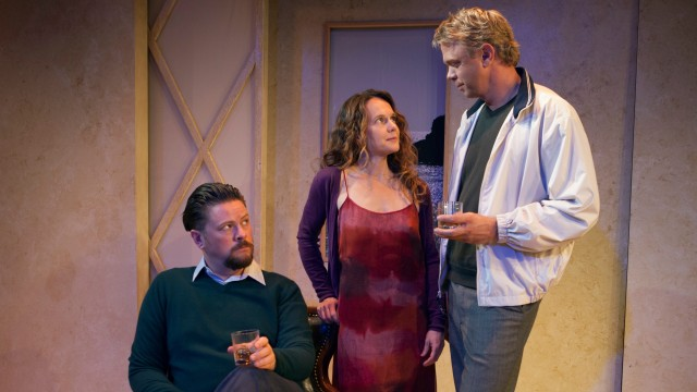 "Scene from ""Betrayal"" at  the North Coast Repertory Theatre."