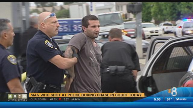 Cameron Avery Valentine being taken into custody in Clairemont Mesa. Photo courtesy of News 8