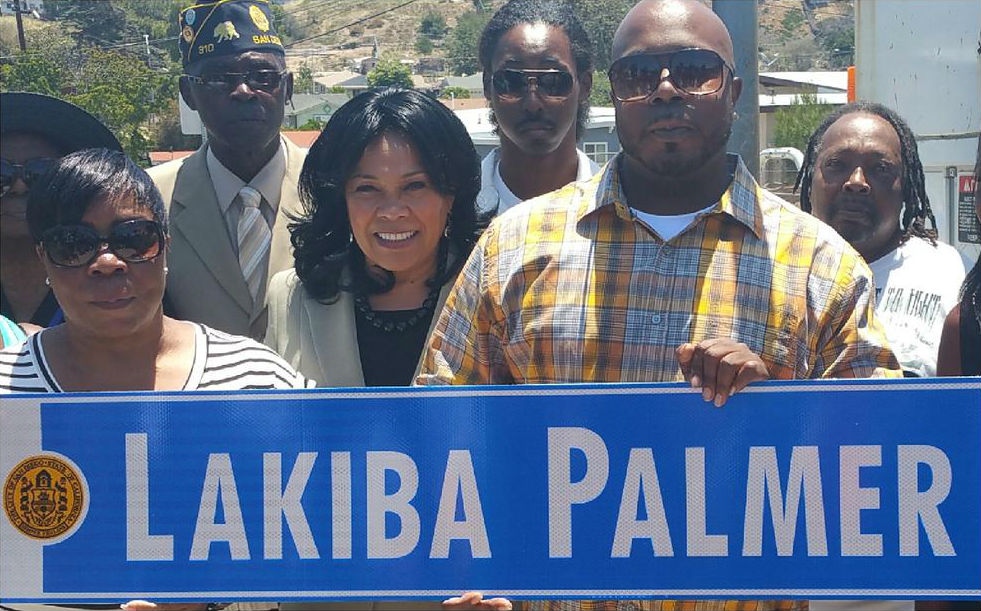 A street in Chollas View was renamed after a USS Cole sailor who grew there. Photo courtesy of Myrtle Cole's office